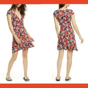 Free People XS Key To Your Heart Mini Floral Dress